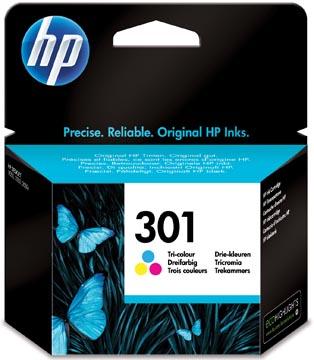 HP cartouche d'encre 301, 165 pages, OEM CH562EE, 3 couleurs