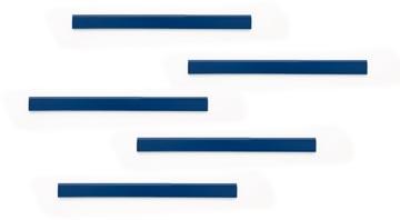 Durable Durafix barre magnétique adhésive, 210 mm, paquet de 5 pièces, bleu foncé