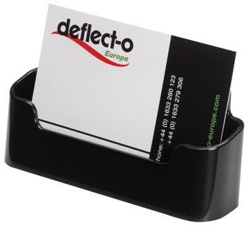 Deflecto Porte-cartes de visite 1 compartiment, noir