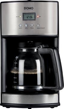 Domo cafetière avec minuterie et filtre permanent 1,8 litres, inox