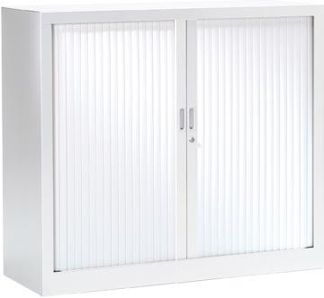 Armoire à rideaux, hauteur de 100 cm, blanc