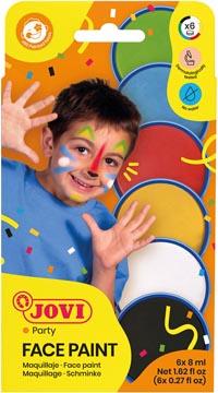 Jovi maquillage Face Paint, étui cartonné de 6 couleurs