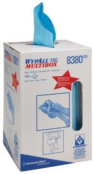 Wypall lingettes nettoyantes X60, boîte distributrice avec 150 lingettes