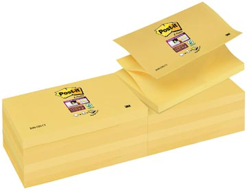 Post-it Super Sticky Z-Notes, ft 76 x 127 mm, jaune, bloc de 90 feuilles