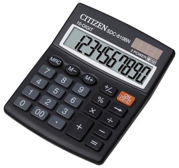 Citizen calculatrice de bureau, SDC-810BN, noir