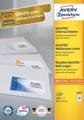Avery Zweckform 3657, étiquettes universelles, Ultragrip, blanc, 100 feuilles, 48,5 x 25,4 mm